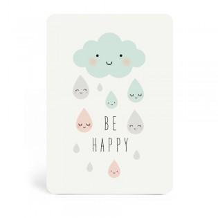"Carte "" Be happy "" de Zü (ZU)"
