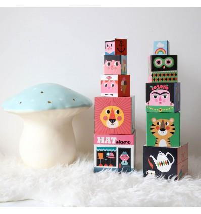 Set de 10 Cubes à empiler de Ingela Arrhenius