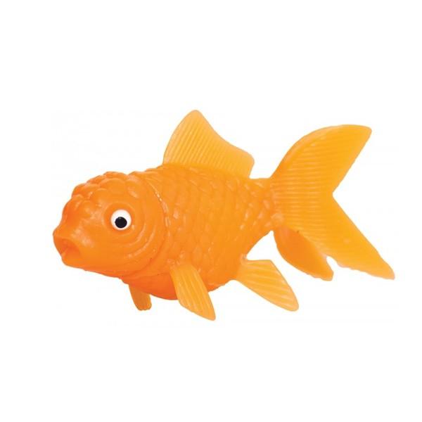 mini poisson rouge en plastique