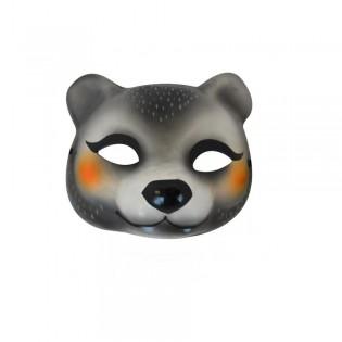 Masque ours en papier mâché Omm design