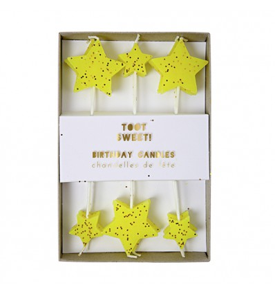 12 bougies étoiles Meri Meri
