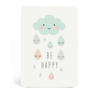 "Carte "" Be happy "" de Zü (ZU)"