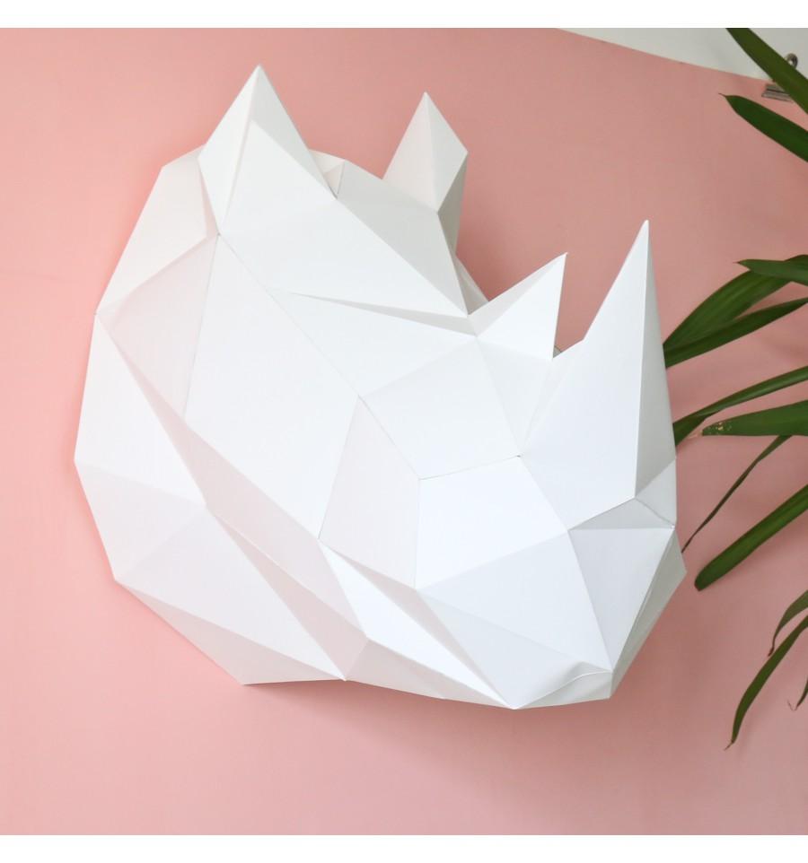 Hervorragend Kit de pliage papier trophée Rhinocéros blanc JE04