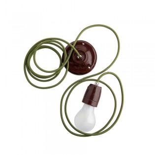 Fil électrique tressé vert olive Zangra