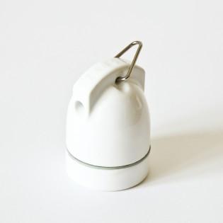 Douille en porcelaine rétro blanche Zangra