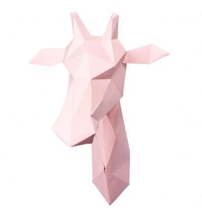 Kit de pliage papier girafe rose - Assembli