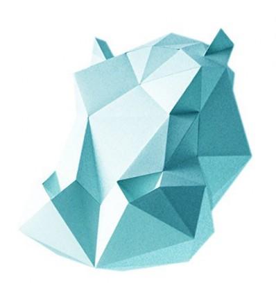 Kit de pliage papier Hippo blanc- Assembli