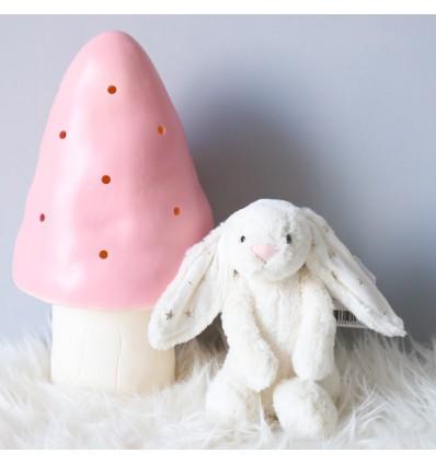 Doudou lapin Bashful blanc étoiles Jellycat