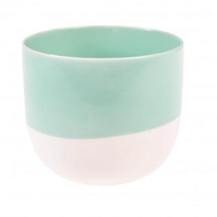 Tasse ou photophore aquamarine