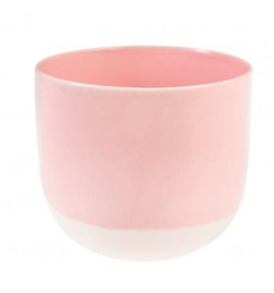 Tasse ou photophore rose pastel