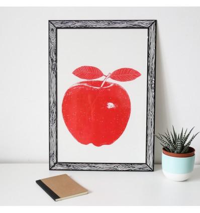 Affiche prints Pomme rouge Marke Newton