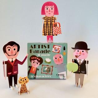 Puzzle 3D parade des artistes Ingela Arrhenius - Omm Design