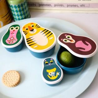 4 Boîtes goûter animaux gigognes - Omm Design