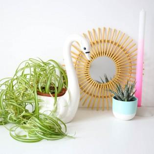 Pot de fleur Cygne en céramique Kitsch Kitchen