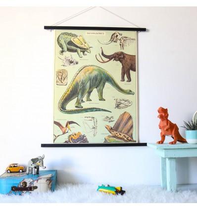 Affiche pédagogique dinosaures - Cavallini & Co