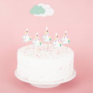 5 bougies licorne - My Little Day