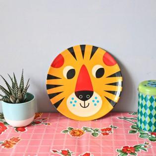 Assiette tête de tigre - Ingela Arrhenius
