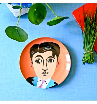 Assiette en porcelaine Mr Carson - Kitsch Kitchen