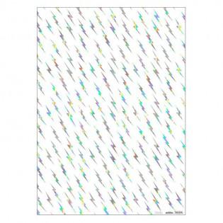 Feuille de papier éclairs irisés - Meri Meri