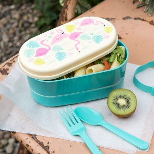 Lunch box Bento flamants roses Rex