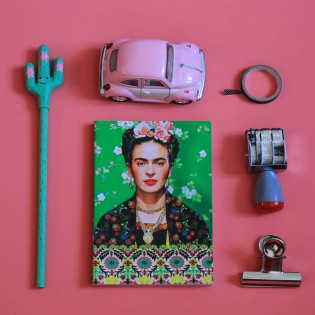 Carnet A6 Frida Kahlo vert