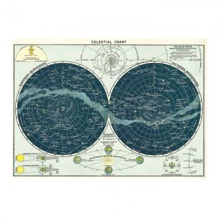 Affiche carte du ciel - Cavallini & Co