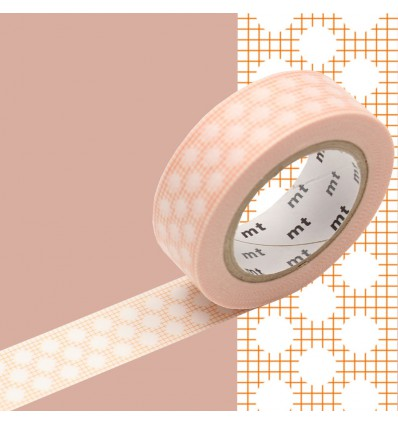 Masking tape motif tisssé orange pois