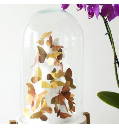 Kit de pliage papier de 24 papillons Or - Assembli