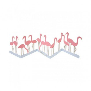 Carte Flamants roses Happy Bird day ! Meri Meri