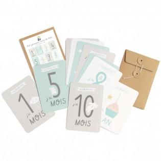 Kit cartes premiers mois de bébé Zü
