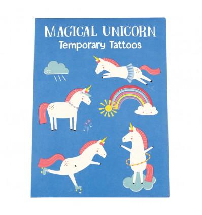 Tatouages temporaires licornes magiques