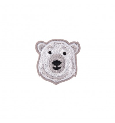 Broche brodée ours polaire