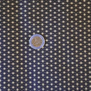 Papier japonais washi asanoha noir et or