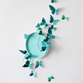 Kit de pliage papier de 23 papillons verts - Assembli
