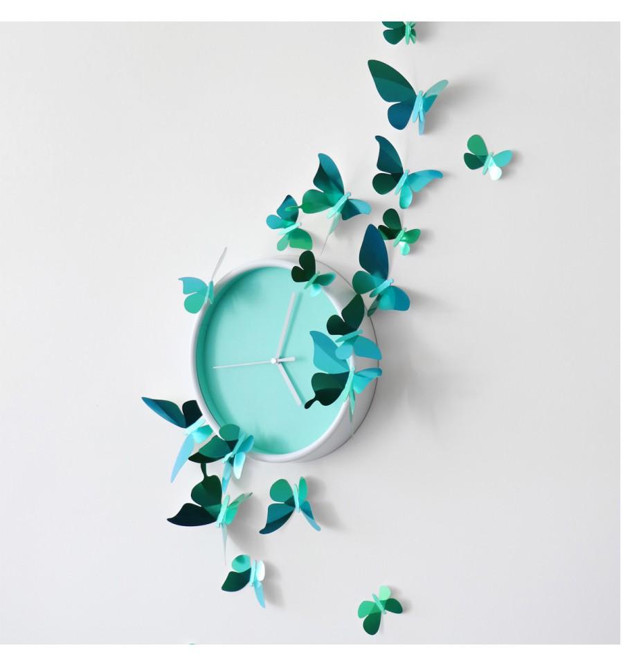 Kit De Pliage Papier De 23 Papillons Verts Assembli