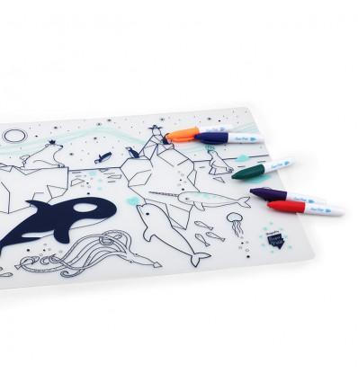 Set de table silicone Mer banquise - Super Petit