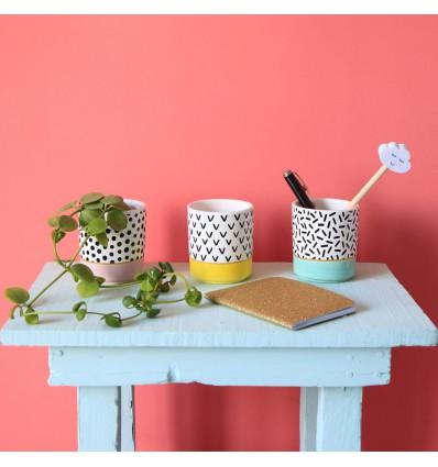 Set de 3 Mini pot pour plantes