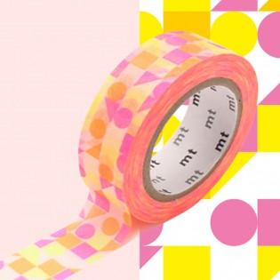Masking tape sankaku shikaku pink