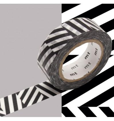 Masking tape chevrons noir et blanc Kapitza
