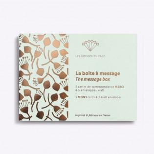 Boîte à message Merci - Editions du Paon