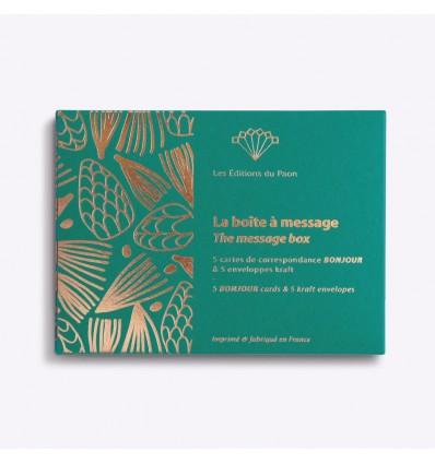 Boîte à message Bonjour - Editions du Paon