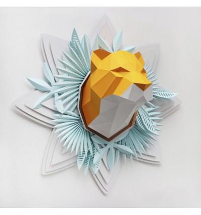 Kit de pliage papier trophée Tigre - Trophée papier Assembli