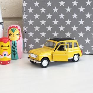 Voiture Renault 4L jaune