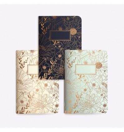 Set de 3 petits carnets Fine Fleur - Editions du Paon