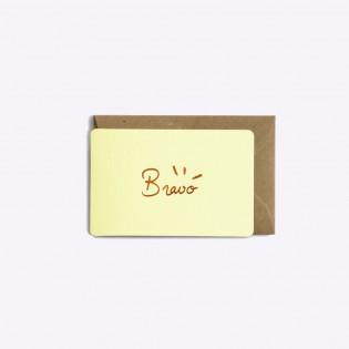 Mini carte Bravo vanille - Editions du Paon