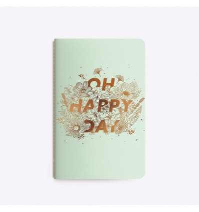 Carnet cousu Happy Day - Editions du Paon