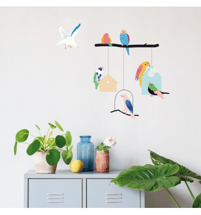 Stickers Birds & Houses - Mimi lou