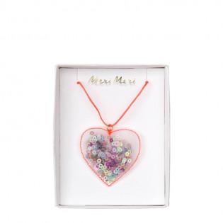 Collier coeur à séquins - Meri Meri