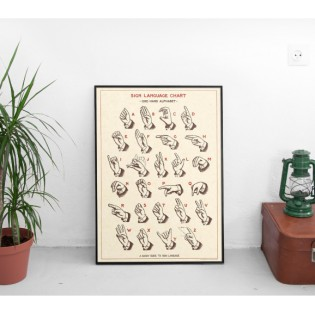 Affiche Langage des Signes - Cavallini