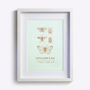Affiche A4 Papillons & Cie - Editions du Paon